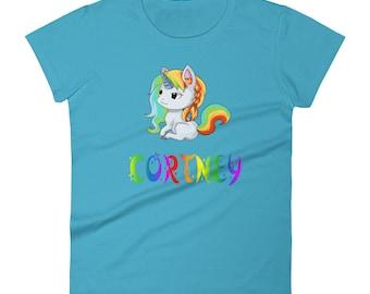 Cortney Unicorn Ladies T-Shirt