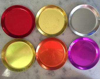 """Awesome Possum Rainbow Aluminum Coasters Set of 6 """"Somewhere over the Rainbow"""" Got it at The Plastic Flamingo """"In living color""""  Gotta Have"""