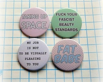 Body positive - button badge or magnet 1.5 Inch