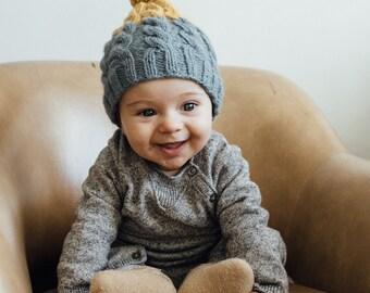 Baby Beanie, Wool Beanie, Toddler 3-24 mo, Baby Wool Hat, Baby Winter Garment