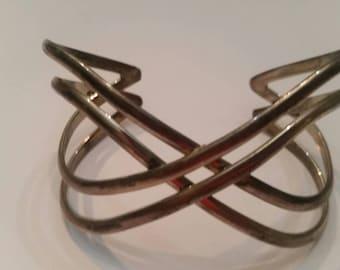 Sterling Silver Bracelet Wave 925 34 grams