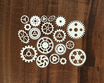 "Laser Cut Chipboard ""Gear [1]"""