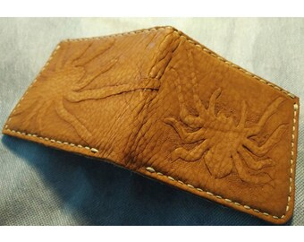 Soft suede Tarantula Leather wallet.