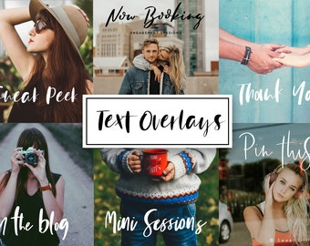 Digital Word overlays - Photo Word overlays - Photo Overlays