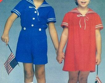 Butterick Voir & coudre 5256 Kermit robe Top Short fille garçon taille 5 6 6 X