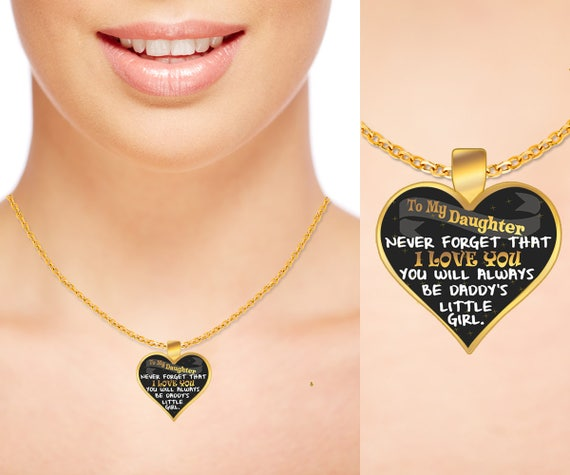 Father daughter necklacedaddys little girlfather father daughter necklacedaddys little girlfather daughter jewelryheart shaped gold plated necklace daddy daughter necklace graduation mozeypictures Choice Image