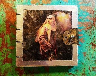 Gothic Gift - Handbound Journal - Art- Goth Book - Nuns - Beautiful Gothic Book - Gothic Artist - Mica