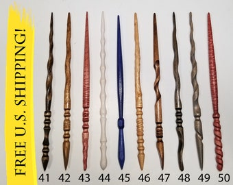 Pick your magic wand, magic wands, custom wands, wood wands, wizard wands, spellcasting, wiccan wands, Heartwood Wands