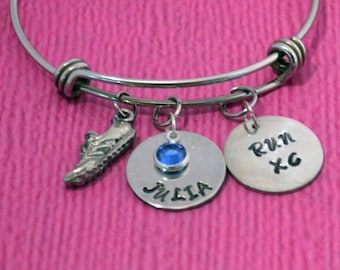 Cross Country Jewelry   Runner Gifts   Marathon Gift   Cross Country   Runner Bracelet   Cross Country Bracelet   Gift for Runners   Running