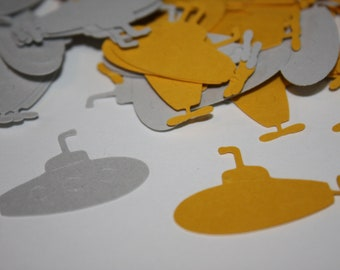 Yellow Submarine Die Cut Confetti Table Decor 200 pieces