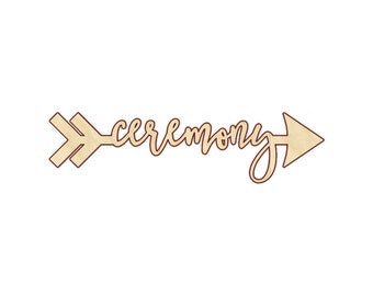 Ceremony Directional Sign - Wedding Ceremony Direction Signs - Wedding Arrow - 190202