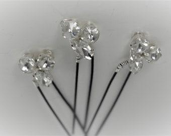 Rhinestone Hair Pins ( set of 3)