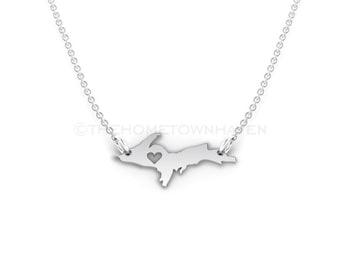 Upper Michigan Necklace - Michigan Upper Penninsula, I love Michigan necklace, Michigan Life, Yooper, Yoopanese