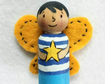 Kindness Fairies peg doll, waldorf toy, fairy doll