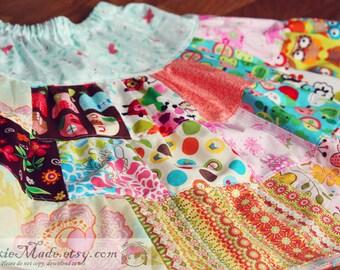Size 8 Girls Skirt, Girl Skirt, Patchwork Skirt, Child Patchwork Skirt, Twirl Skirt, child skirt, cute skirt, nuxiemade, patchwork