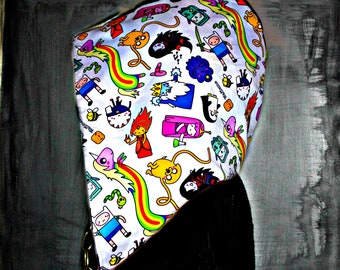 ADVENTURE TIME // CUSTOM Organic Cotton Hood!