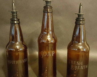 Beer Bottle Mouthwash Soap Dispenser