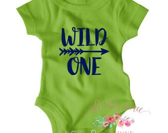 Wild One Shirt - 1st Birthday Outfit - Birthday Shirt - 1st Birthday Shirt - First Birthday Shirt - Nerdy Baby Onesie - Hipster Baby Clothes