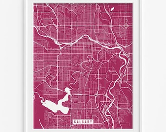 Calgary Print, Canada Poster, Calgary Poster, Calgary Map, Canada Print, Canada Map, Alberta, Office Decor, Street Map, Mothers Day Gift