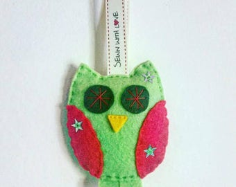 Handmade Felt Owl Hanging Decoration