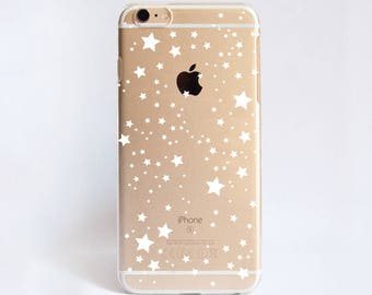 Clear Stars Phone Case Design for iPhone Cases,  Samsung Cases, Google Pixel Cases and One Plus 5 Cases