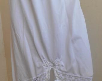 Rockabilly Half Slip Petticoat Vintage Medium White
