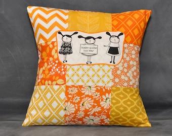 Make quilts not war pillow