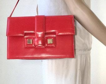 Jay Herbert, I. Magnum. Red Leather Purse, Bag, Shoulder Bag, 1970's