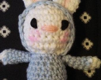 Easter, rabbit hole, handmade, crochet, bunny, amigurumi, softie, rag doll, waldorf,baby toy