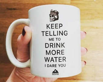 Drink More Water Migraine Mountain Mug