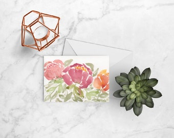 Peonies Bouquet Card