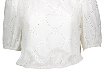 SMAI NYC Women's Loose Short Sleeve Blouse Strapless Shirt Off The Shoulder Tops