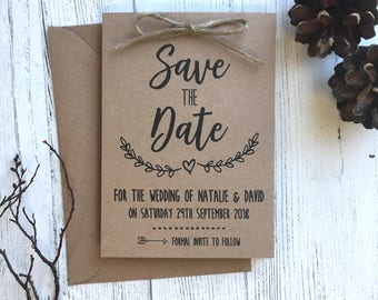 Rustic Save the Date | Wedding Announcement | Evie Collection | SAMPLE