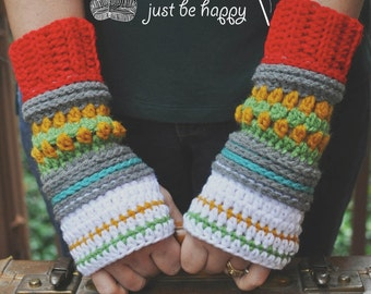 Instant Download, Hop Skip & Jump Mitts, Crochet PATTERN PDF
