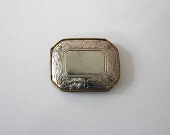 Silver Floral Belt Buckle - Vintage - Western