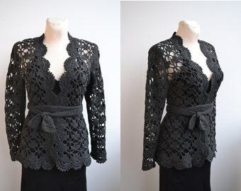Crochet cardigan bolero sweater  made to order wedding bridal crochet handmade chic elegant spring summer beach