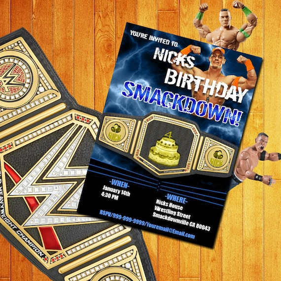 John Cena Birthday Birthday Card WWE Birthday Card John