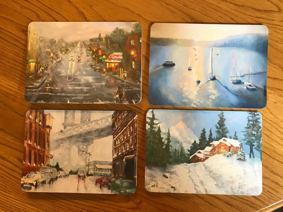 Blank Cards, Art Notecard Sampler, Bloomington Indiana, Original Art Notecards, Art Stationary, Greeting Cards, Painting Cards