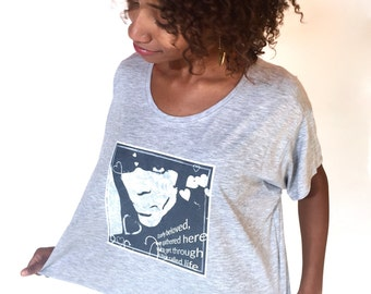 DEARLY BELOVED Tee: Boxy Cropped Heather Grey Women's Prince T-shirt