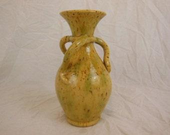 Art Nouveau Belgian Pottery Three Handled Vase - Drip Glaze - 1900