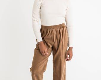 90 Brown Crop Pant M