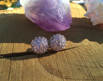 Pink Amethyst Sterling Silver post earrings
