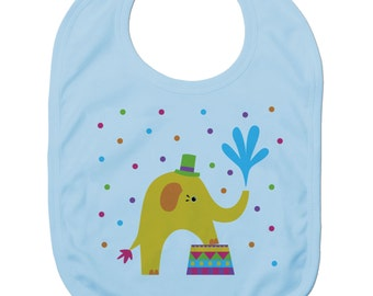 Funny Baby Bibs for Baby Boy Baby Girl Dribble Bib Feeding Bib Circus Elephant Baby Gift