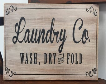 Laundry room sign, wood sign, laundry sign, painted wood signs, custom wood signs