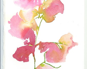 Pink Flower Print, Watercolor Flower Painting, Flower illustration, Flower Watercolour,  Bouganvilla, flower decoration