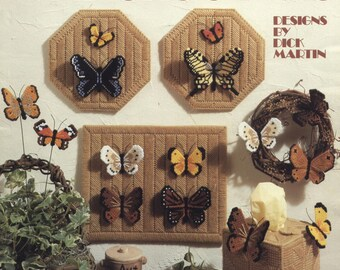Butterflies in Plastic Canvas by Dick Martin - TIB12457