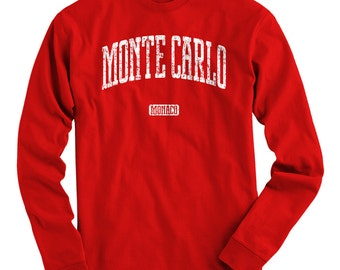 LS Monte Carlo Tee - Long Sleeve T-shirt - Men and Kids - S M L XL 2x 3x 4x - Monaco Shirt - 4 Colors