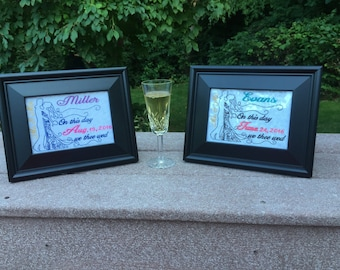 Personalized Wedding Announcement-Framed 5X7 or 8X10
