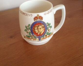1937 coronation mug George Vl