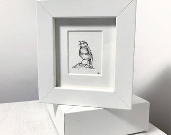Singing Bird Original Mini Drawing